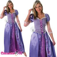 Womens Disney Tangled Rapunzel Princess Costume Fairytale Book Week Fancy Dress
