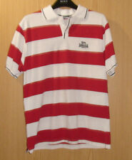 Lonsdale Mens White/Red striped Polo Shirt, Small