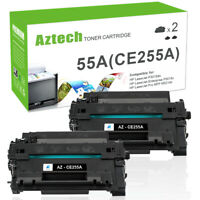 2PK Toner Compatible With HP 55A CE255A LaserJet P3011 Enterprise P3015d P3015Dn