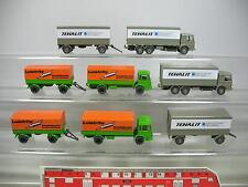 AF247-0,5# 4x Wiking H0 LKW/Lastzug/Lastwagen MAN: Leistritz + Tehalit