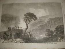 Duke of Edinburgh Weatherboard Waterfalls New South Wales Australia 1868 print