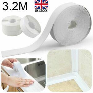 Waterproof Kitchen Bathroom Adhesive PVC Sealing Tape Sink Caulk Strip Corner UK
