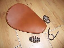 CUSTOM ZERO STYLE CHOPPER SINGLE SOLO BROWN SEAT HARLEY BOBBER CHOP - SEAT 4B