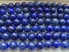 "8"" Strand Natural Dark Blue Lapis Gemstone Smooth Rounds 8mm, Approx 24 Beads"