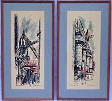 John Haymson (Austria, US, 1902-1980) Pair of Industrial Scene Orig. Lithographs