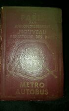 Vintage 1950s? Paris France Metro AutoBus Guide book Routes Sites french denaes