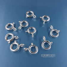 10 Sterling Silver Spring Ring Clasp Connector w/Soldered Closed Loop 7mm #44004