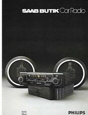 SAAB BUTIK PHILIPS CAR RADIO, CASSETTE AND MORE BROCHURE LATE 70's EARLY 80's??
