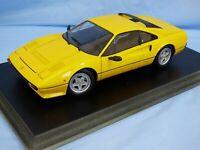 1:18 KYOSHO FERRARI 308 GTB QUATTROVALVOLE YELLOW DETAILED DIECAST MODEL CAR TOY