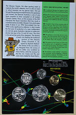 1992 Australia Uncirculated Mint Coin Set  Including Rare Barcelona $1 BU Coins
