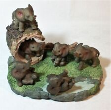 Set of 6 Comical Baby Elephant Poly Resin 9319844591171 NEW