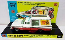 Vintage CORGI 486 KENNEL SERVICE WAGON Diecast Model Car & Custom Display [a]