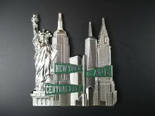New York Metal Magnet, World Trade, Statue of Liberty,Central Park,5 Th Ave