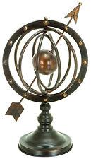 """17"""" Metal Armillary Globe Solar Earth Celestial Sphere Arrow Nautical Decor"""