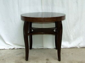 Art Deco Coffee Table, Occasional Wine Walnut, For Repair. Vintage Antique 1930s
