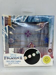 Frozen 2 LED Battery Operated String Lights 18 Lights on 7ft String ~ READ!
