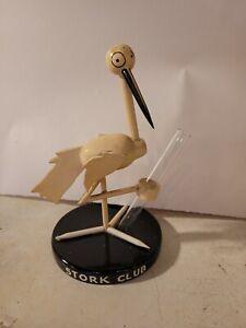 Art Deco STORK CLUB Wooden Stork Table Centerpiece Bud Vase