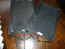 """Lot of Two Matthews Heavy duty 18""""x12"""" Flags - Black Textile/Fabric"""