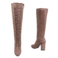 Wadenhohe Stiefel 39 Damenschuhe mit Blockabsatz im Größe