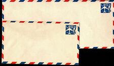#UC33 Blue Jet Complete Stamped Envelope set/2 - MInt