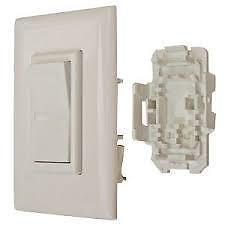 American Motorhome RV 110 Volt White Quick Wire Light Switch