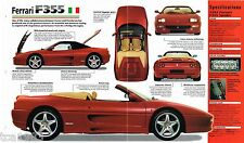 1997 FERRARI F355 SPEC SHEET/Brochure/Pamphlet/Catalog
