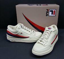 Fila T-1 Mid Vintage trainers - White, Fila Navy, Fila Red - UK 9
