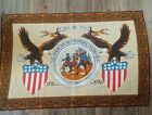 VTG 1776-1976  AMERICAN BICENTENNIAL CELEBRATION WALL TAPESTRY 37 x 56 inches