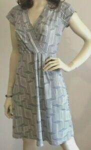 Beautiful  Basque Black and White Poly/Elastane Sleeveless Dress Size 14