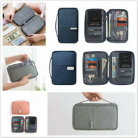 Travel Wallet Passport Holder Document Organizer Cover Bag Multifunction New D