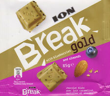 Ion Break Gold White Chocolate With Blueberries And Almonds 2x85Gr