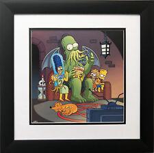 """The Simpsons- Mars Attack"" NEW CUSTOM FRAMED ART Print Animation"