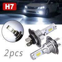 H7 LED Headlight Bulbs Conversion Kit Hi/Lo Beam 55W,8000LM,6000K Super-Bright