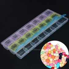 7 Day Pill Medicine Box Tablet Dispenser Organiser Weekly Storage Case Container