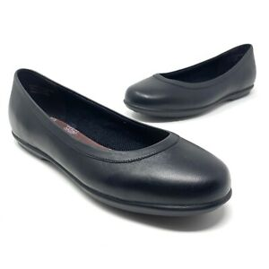 Crocs Women's At Work Flat With Croc Lock Size 10.5 Black. Great Condition!