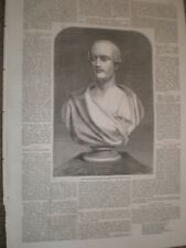 Bust of Prince Albert by Matthew Noble 1859 print AU