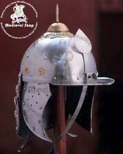 18 Gauge Sca Larp Medieval Hussars Armor Steel Combat Hussars Cosplay Helmet