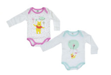 Baby Girls Disney Winnie The Pooh 2 Pack Body Suits 62 - 102cm Cotton Romper 86 / 92 Dots