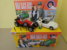 CORGI TOYS GS40 Ensemble Cadeau 40 The Avengers Steed's Bentley emma peel's lotus elan
