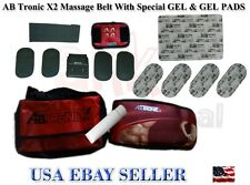 AbTronic X2 Dual Fitness Belt , Slimming Belt, Vibration Belt,With Gell&Pads