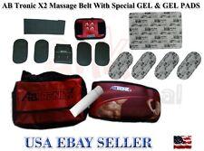 AbTronic X2 Dual Fitness Belt , Slimming Belt, Vibration Belt,With Gell&Pads