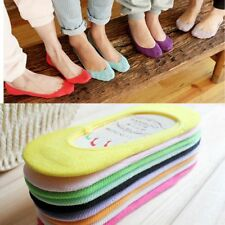 Women Invisible No Show Nonslip Loafer Liner Cotton Socks Footlet One Size