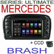 MERCEDES SL CLASS R230 2002-10 GPS NAV DVD HEADUNIT WITH CAMERA / BYPASS CABLES