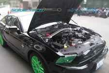 Black Strut Gas Lifter Hood Shock Stainless Damper Kit for 10-14 Ford Mustang GT