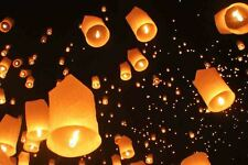 Chinese Flying Sky Lanterns Birthday Wedding Party Celebrations Anniversary 2pcs