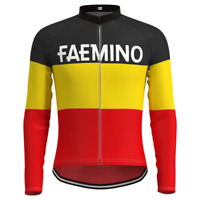 Brand New Team Faemino belgian Champion Thermal cycling Long Sleeve Jersey