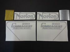 NORTON COMMANDO 850 Electric Start TANK AND SIDE COVER DECALS WITH PIN STRIPE