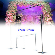 Heavy Duty Telescopic Pipe and Drape Kit Wedding Backdrop Stand Hot 3x3m/3x6m