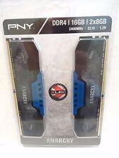 PNY Anarchy 16GB Kit (2x8GB) DDR4 2400MHz Cl15 1.2v NEW
