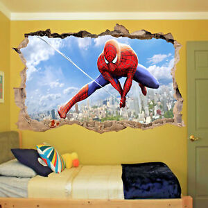 Superhero Spiderman Wall Stickers Art Poster Mural Decal Kids Boys Bedroom ST1